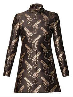 Gun Pop jacquard shift dress   Saint Laurent   MATCHESFASHION.COM