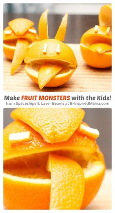 Make Fruit Monsters - A Simple Kids in the Kitchen Recipe at B-Inspired Mama