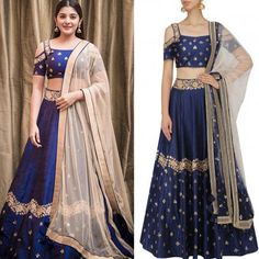 GET THE LOOK Nivetha Thomas ravishing appearance in a blue embroidery skirt wit embroidery cold shoulder crop top wit contrast dupatta by Mishru. She looked elegant. Shop now and get 15% off: https://www.perniaspopupshop.com/designers/mishru #getthelook #celebcloset #celebritystyle #nivethathomas #bollywoodfashion #mishru #shopnow #perniaspopupshop #blue #happyshopping