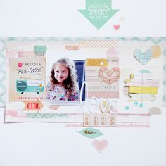 #papercrafting #scrapbooking #layout - Pastel Colors by Laetitia Poissy at @studio_calico