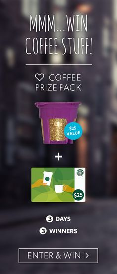 Help me win this awesome ♡ Coffee Pack & $25 Starbucks Gift Card https://wn.nr/PE4xYh ends 4/3