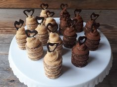 Bite-sized cake with raw chocolate hearts made raw vegan and gluten-free, by Sweet Little Sirin