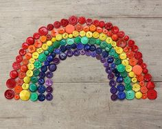 button rainbow...by lilfishstudios #colors #buttons #craft