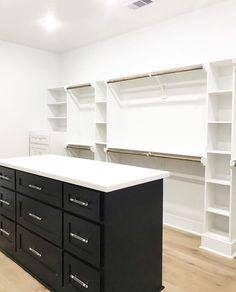 196 Likes, 17 Comments - Hannah Dresser Island, Dresser In Closet, Closet Island, Master Closet, Closet Organization, New Homes, Farmhouse, My Favorite Things, Building