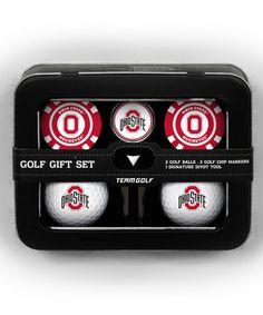 This Ohio State Buckeyes Golf Ball & Marker Set is perfect! #zulilyfinds