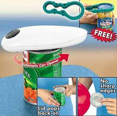 One Touch Can Opener With Free Jar Opener