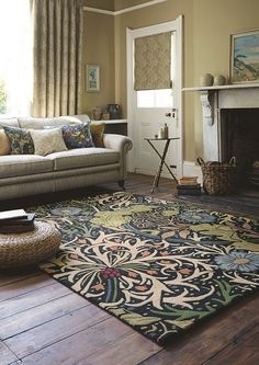 Seaweed Rug Adapted from the classic William Morris design, the Seaweed rug in blues & greens will create a great focus point for your room.