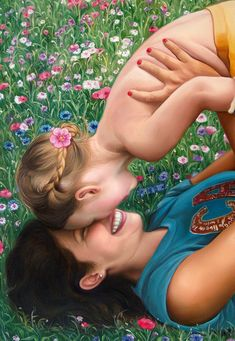 Custom portraits from photo, large oil painting on canvas. money-back guarantee. Large Painting, Oil Painting On Canvas, Beautiful Home Gardens, Portraits From Photos, Black And White Painting, Brunette Girl, Gold Paint, Mothers Love, Mother And Child