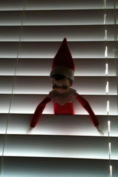Stuck on his trip back from NP! Elf on Shelf