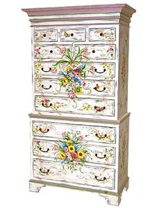 Hand Painted Furniture - Piece of the Week - Chest On Chest