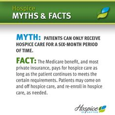 Myth & Fact #7 #Hospice Hospice Nurse, Life Care, End Of