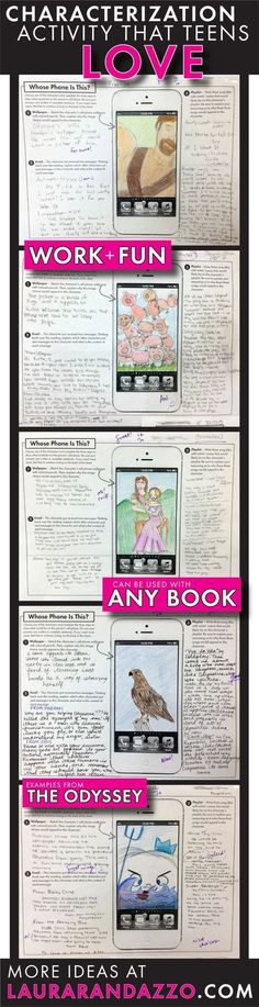 Incorporating technology and classic literature for middle school and high school students. This allows students to be creative and prove that they understand a character/text!--use with novel and myth characters! 6th Grade Reading, 6th Grade Ela, Middle School Reading, Middle School English, Sixth Grade, 10th Grade English, Seventh Grade, Teaching Literature, Teaching Reading