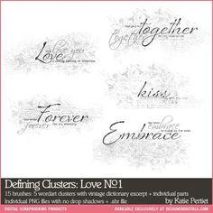 Defining Clusters: Love Brushes and Stamps No. 01- Katie Pertiet Brushes- DS353934- DesignerDigitals