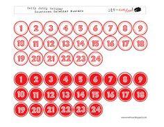 Calendar Day, Calendar Numbers, Christmas Countdown Calendar, Jolly Holiday, Holiday Cards, December Daily, Counting, Christmas Holidays, Diy