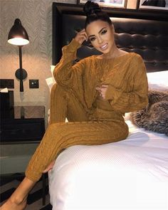 Tobinoone Sexy Jumpsuits Women 2019 Long Sleeve Casual Rompers Knitted Hole Jumpsuit Female Elastic Waist Overalls Streetwear - Women Jumpsuit - Ideas of Women Jumpsuit Asos Jumpsuit, 2 Piece Jumpsuit, White Jumpsuit, White Romper, Floral Jumpsuit, Lace Romper, Fall Outfits, Casual Outfits, Cute Outfits