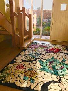 Cara Murphy: 'My beautiful Christian Lacroix rug at its new home in Jersey. Absolutely love it. Thanks for the great service and for delivering to Jersey!'