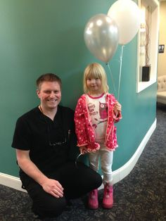 She brought Dr. White balloons, everyone loves our doctors!