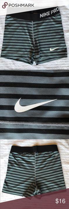 """Black and gray striped Nike pro dri fit shorts Gray / grey and black striped 3"""" inseam Nike pro shorts Nike Shorts"""