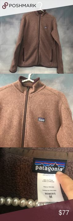 """Patagonia Better Sweater full zip Fleece Medium Super warm sweater. Staple for the fall and winter. Brown is the color. Sz: medium. Full zip with two pocket outside and inside. Measurements: chest: 21"""". Length: 27"""" Patagonia Other"""
