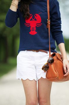 Love this navy and red lobster sweater!