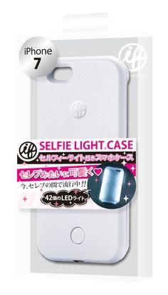 マツコの知らない世界で紹介 セルフィーライト 自撮り スマホ ケース iFlash(White)アイフラッシュ いつでもどこでも完璧な自撮り for iPhone7