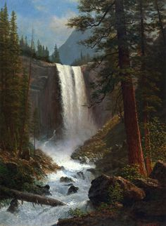 The Athenaeum - Vernal Falls (Albert Bierstadt - )