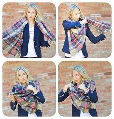 Auf folgende Seite finden Sie 9 Möglichkeiten einen Schal anders zu binden. Die Anleitungen sind auch dabei, schauen Sie mal selber!