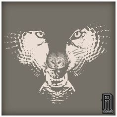 H.owl Wolf Owl Illusion Design
