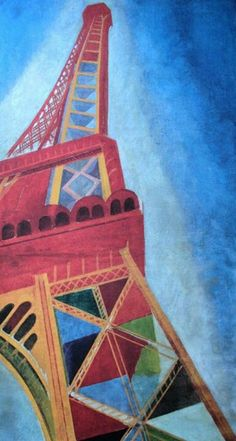 Sonia Delaunay: Tour Eiffel, Coming soon to Tate Modern, London. Sonia Delaunay, Robert Delaunay, Tour Eiffel, Illustrations, Illustration Art, A Level Art, Art Abstrait, French Artists, Art Plastique