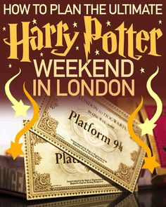 Here's How To Have A Harry Potter Weekend In London (for next time sigh)