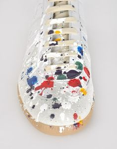 Painted sneakers by Maison Martin Margiela #material_grrrl
