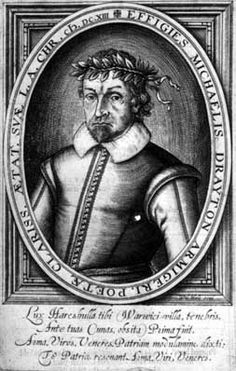 Michael Drayton, portrait from his 1619 Poems.