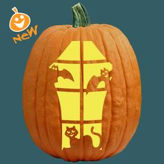 """One of 700+ FREE stencils for pumpkin carving and more! www.pumpkinlady.com """"The Playdate"""" #FreePumpkinCarvingPattern"""