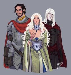 """naomimakesart: """" """"Bittersteel and Bloodraven both loved Shiera Seastar, and the Seven Kingdoms bled."""" If you'd like to see what else I'm working on, come join me on Patreon! Arte Game Of Thrones, Character Inspiration, Character Design, Character Ideas, Fire Fans, Game Of Trones, I Love Games, Fire And Ice, Play"""