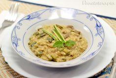 PANELATERAPIA - Blog de Culinária, Gastronomia e Receitas: Risoto de Mignon com Abobrinha e Mostarda Dijon