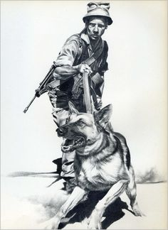 SADF.info Military Working Dogs, Military Looks, Military Art, Military History, German Shepherd Tattoo, Army Day, Army Wallpaper, Tactical Survival, Service Dogs