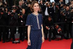 Film director and fashion queen #SofiaCoppola looked effortlessly sophisticated in a #vintage style @Michael Kors dress and single row of @Chopard  diamonds around her wrist.