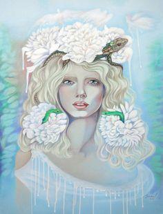 June Fairy/ Colored Pencils, Combination Technique / 19.5 x 25 in #art #fairies #colorpencils