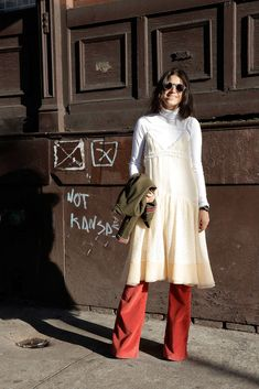 how to wear flared pants: it ain't easy