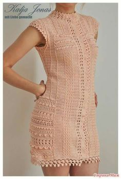 On-line - knit together online - Country Mom Moda Crochet, Pull Crochet, Crochet Lace, Vanessa Montoro, Crochet Blouse, Knit Dress, Special Dresses, Freeform Crochet, Crochet Woman