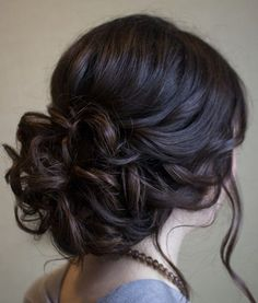 Wedding hairstyle idea; Featured Hairstyle: Hair and Makeup by Steph …
