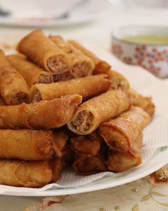 Good pork spring rolls should be crisp but not greasy. The amount of filling should be generous but not over-the-top to ensure it gets cooked through.