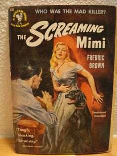 Vintage Adult Novel Book Covers | VINTAGE PULP FICTION COVER ART THE SCREAMING MIMI by ScootersShop