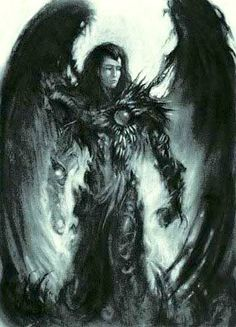 surrealistic fantasy gothic filligre dark ages art | More Things Than Are Dreamt Of: HOT ANGELS: Dark Angels: Post 1