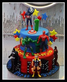 Excellent Image of Avengers Birthday Cakes . Avengers Birthday Cakes Avengers Cake For Christophers Birthday Birthday Cake Best Picture For Birthday Cake harry potter For Your Taste You are l Avengers Birthday Cakes, Superhero Birthday Cake, Boy Birthday, Superhero Party, Birthday Ideas, 10th Birthday Cakes For Boys, Cake Birthday, Avenger Cake, Avenger Party