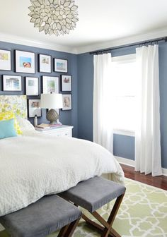 While The Dust Flies In The Laundry Room… | Young House Love... I love the paint color in this room!
