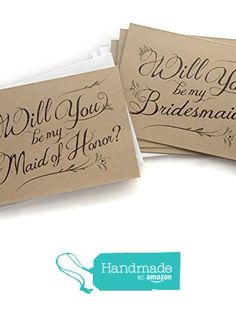 5 Pack - Rustic Will You Be My Bridesmaid Cards (4), Maid of Honor Card (1) - Assortment Pack of 5 - Kraft Rustic Wedding Party Cards from SideStreetDesigns https://www.amazon.com/dp/B01MZ8IMSV/ref=hnd_sw_r_pi_awdo_nxNHybWEFSZXR #handmadeatamazon