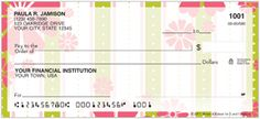 Filled with floral hues and patterns of pink and green, In The Meadow is sure to please the eye. Place this uplifting design in your checkbook today!