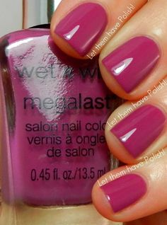 Wet n Wild - Let them have Polish . Pretty nail color for Spring