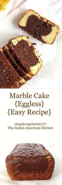 Eggless Marble Cake is a perfect cake to enjoy with family and friends. It is easy to bake with readily available ingredients. It is rich, super moist and soft. Eggless Desserts, Eggless Recipes, Eggless Baking, Baking Recipes, Eggless Muffins, Vanilla Desserts, Baking Ideas, Vegan Desserts, Vanilla Cake